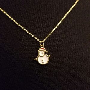 Jewelry - Holiday Greetings Color Coated Snowman Pendant